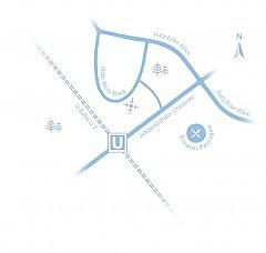 Lage der Stadtvilla Global